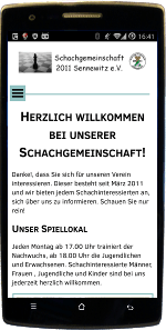 mobile Website schach-in-sennewitz.de - Webdesign by Con Data Systemberatung