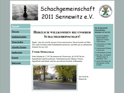 Website schach-in-sennewitz.de - Webdesign by Con Data Systemberatung